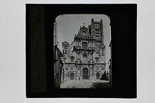 Auxerre Eglise St Pierre France Plaque de projection Lanterne magique ca 1900