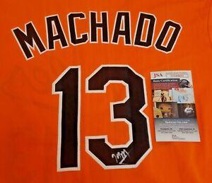 Manny Machado Signed Autographed Baltimore Orioles Small SGA Baseball Jersey JSA