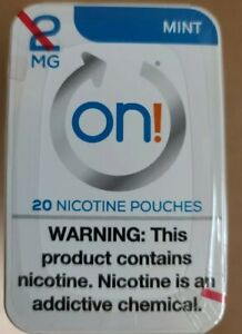5 SEALED PKGS ON NICOTINE SMOKING CESSATION mint FLAVOR 100 POUCHES 2 MG