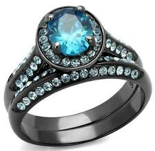 Topaz Engagement Oval Costume Rings