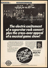 THE POP N ROCKER GAME__Original 1983 Trade AD__TV promo__SHA NA NA__PHIL HARTMAN