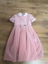 TIZZAS FOR EL CORTE INGLES PINK COTTON VELVET GIRLS DRESS 10 year old