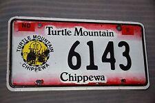 1994 NORTH DAKOTA License Plate ** TURTLE MOUNTAIN CHIPPEWA NATION