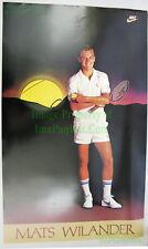 NITF ☆ Vintage ☆ Original ☆ NIKE Tennis Poster ☆ Mats Wilander ☆ PDC Ref Stock