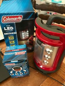 Coleman Duo 2 Lights In One LED Rechargeable Area Lantern CPX 6 216 Lumens