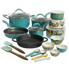 The Pioneer Woman Frontier Speckle 24-Piece Cookware & Food Storage Combo Set,