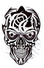 Einmal Tattoo Totenkopf Temporäre Tattoos Halloween Aufkleber Temporary Skull 12