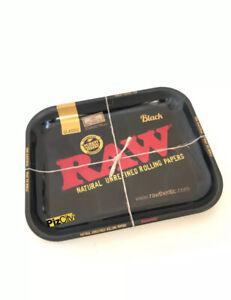 RAW Black Medium Metal Rolling Tray 340mm x 280mm w/Certificate