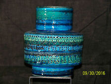 Raymor Bitossi Aldo Londi Rimini Blue Glaze MidCentury Italian ArtPottery Vase