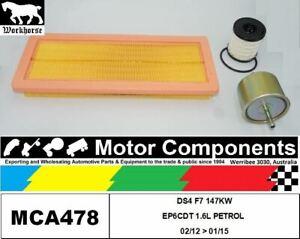 FILTER SERVICE KIT for CITROEN DS4 F7 147KW EP6CDT 1.6L PETROL 02/12 > 01/15