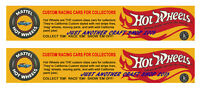 Hot Wheels Redline 1968 Banner Streamer Poster Shop Sign Advert Leaflet x 2