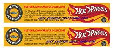 Hot Wheels Redline 1968 Banner Streamer Poster Shop Sign Advert Leaflet x 2
