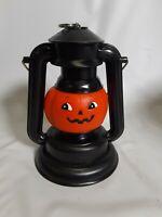 VTG Trick Or Treat Halloween Pumpkin Lighted Plastic Lantern Lamp childrens RUSS