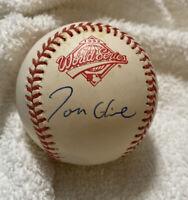 Tom Glavine Signed 1992 World Series Baseball Autographed AUTO ATLANTA BRAVES