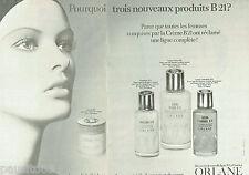 PUBLICITE ADVERTISING 115  1972  les cosmétiques crémes B21 Orlane (2p)