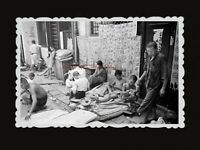 1950s Newspaper Street Alley Man Boy Children Road Vintage Hong Kong Photo #807