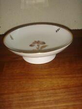 Footed Cake Dish  # 711-9269 Red / BROWN IRIS Royal Copenhagen Factory First