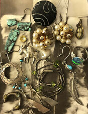 Navajo sterling & rare hallmark silver pin & costume jewelry lot JL 052320@