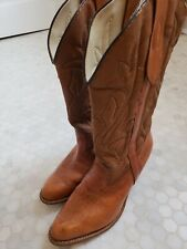 MISS CAPEZIO Vintage Distressed Leather Heeled Cowboy Boots Western Women's 9.5M