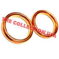 Set Of Two 32mm Copper Exhaust Pipe Gaskets 110cc 125cc Dirt Bike Atv Pit Pro