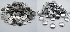 Kit Craft Fabric Covered Buttons Blanks England Metal Gold Silver Size 40l Silver 40 Pieces