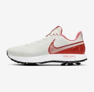 Nike React Infinity Pro Golf Shoes Sail White Ember Men Size 8.5 CT6620-104 New