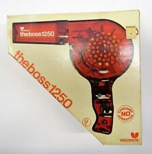 Vintage Windmere The Boss VIP 1250 Hairdryer Amber Plastic In Box   Works/Tested