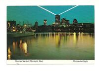 MONTREAL DE NUIT, AT NIGHT, QUEBEC, CANADA CHROME POSTCARD