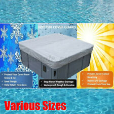 Silver Oxford Fabric Spa Cover Cap Hot Tub Waterproof Protector Various Sizes !