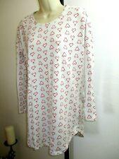 Victorias Secret Sleep Shirt XS Candy Cane Hearts Polka Dots Long Sleeve     b3