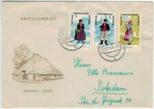 1964, entrambi 5 PFG. i valori Trachten i (MiNr. 1074/75) con gliorare su FDC con est.
