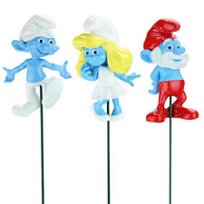 Set of 3 Smurf Plant Stakes Featuring Clumsy, Papa Smurf and Smurfette
