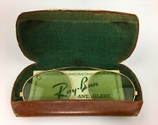 Vintage Ray Ban Bausch And Lomb Anti Glare Clip On Glasses With Case