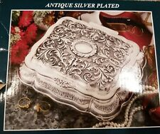 Antique Large omate heavy silverplated jewelry box <brand new>
