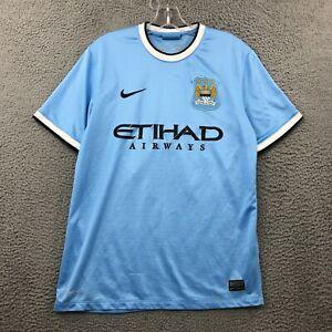 2014 Manchester City FC MCFC Nike Long Sleeve Soccer Medium M Short Jersey