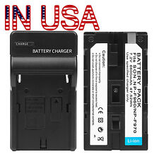For NP-F970 6600 mah 7.4V Li-ion Battery with Recharge SONY Neewer Nanguan Godox