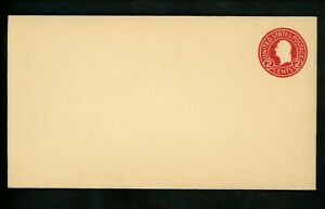 US Postal Stationery U429g Mint Envelope Entire 2c Carmine on White Die 8
