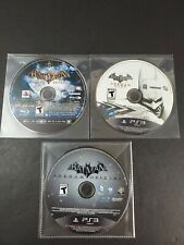 Batman Arkham Trilogy Asylum City & Origins - PlayStation 3 PS3 Lot Collection