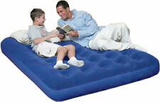 INFLATABLE DOUBLE AIR BED FLOCKED MATTRESS AIRBED BLOW UP COMFORTABLE CAMPING