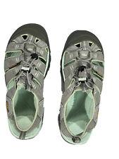 Keen Men's Sandal Shoe Gray & Blue Elastic Tie Adjusting Waterproof Size 10