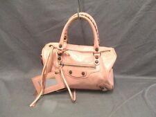 Authentic BALENCIAGA Pink Classic Mini Twiggy 327103 Leather Handbag