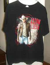 Jason Aldean 2012 Concert Shirt Adult Size Medium Black 2 sided