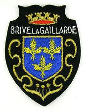 ECUSSON VILLE - REGION BLASON BRODE EMBROIDERED PATCH MERESSE BRIVE LA GAILLARDE