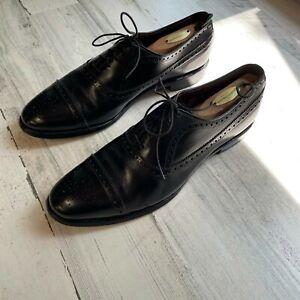 Allen Edmonds Oxford Wingtip Dress Shoes Fairfield 10.5 B Black USA Narrow