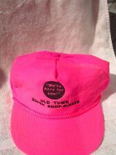 VTG Old Town Maine Super Shop-N-Save Strapback Hat Cap Fresh Prince Neon Pink