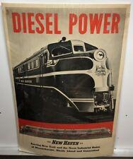 Original vintage Travel Poster Diesel Power New Haven Railroad