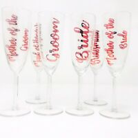 Personalised Champagne glass flute Bride, Bride Tribe, Maid of Honour Bridesmaid