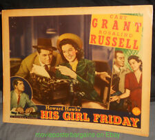HIS GIRL FRIDAY Lobby Card #4 CARY GRANT - OFFERED AS IS Laminated in Plastic!!!