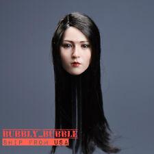 1/6 Asian Beauty Head Sculpt Long Hair For PHICEN Hot Toys Figure SHIP FROM USA