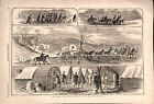 Civil War Army of the Potomac Doesn't Move mud & transport 1862 historical print
